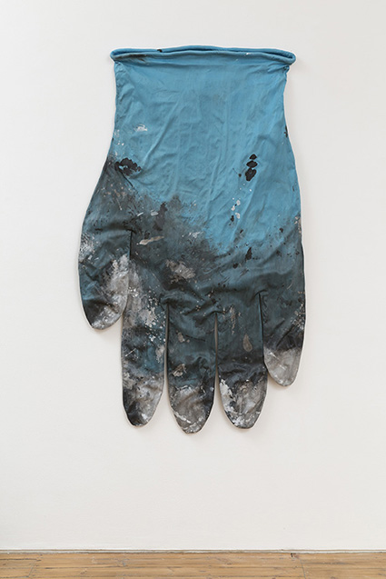 Amanda Ross-Ho, 'Blue Glove Right #1', 2014, Stretch cotton sateen, acrylic paint, cotton piping, armature wire, 178 x 109 cm