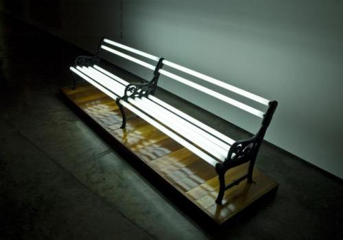 Analía Amaya, 'Luminic Bench', 2003, fluorescent light bulbs, 310 x 87 cm