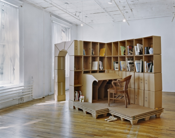 Céline Condorelli, 'Revision, part I', 2009, cardboard, masking tape, paletts, books, dimensions variable
