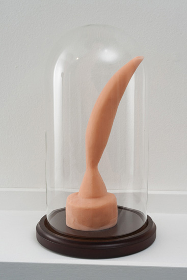 Candice Lin, 'Bird in Space (Pink),' 2012, platinum body-grade silicone, bell jar, 11 x 5.5 x 5.5 inches