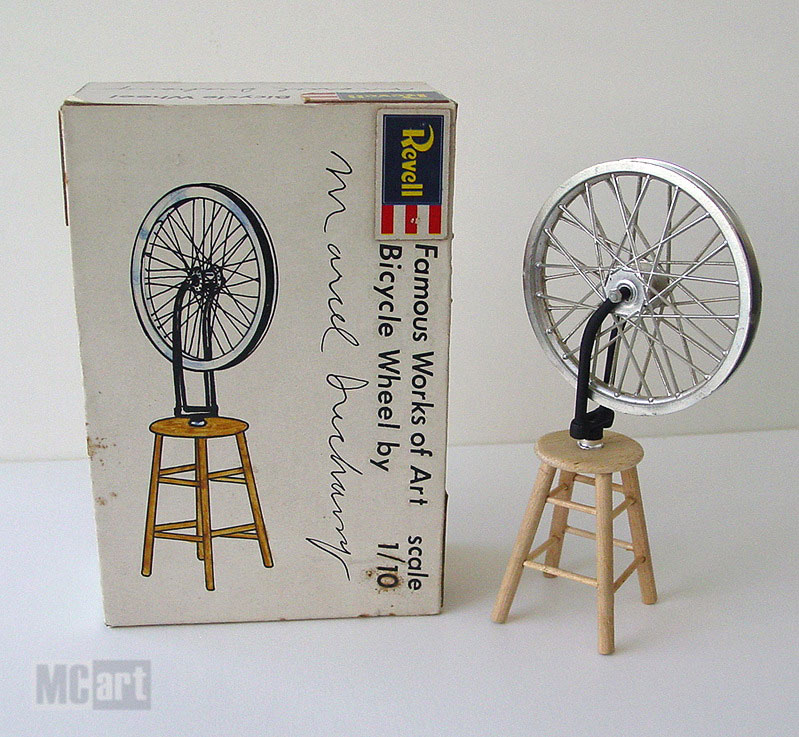 Chris K - Motorcycle Art (MCart), 'Famous work of art, bicycle wheel by Marcel Duchamp', 1979