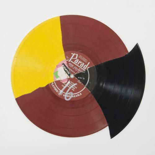 Christian Marclay, 'Recycled Records', 1983, collaged vinyl records, Ø 33 cm