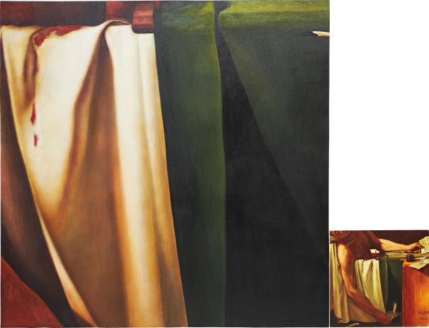 Consuelo Castaneda, 'La muerte de Marat', 1993, oil on canvas, 157.5 x 203.2 cm