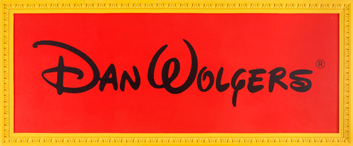 Dan Wolgers (1955), 'Dan Wolgers,' 1991, acrylic on panel, 104 x 250 cm