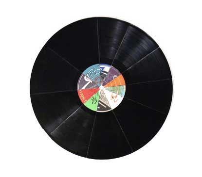 Dave Dyment, 'Top Ten', 2005, collaged vinyl records