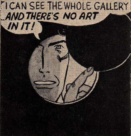David Barsalou, 'I Can See The Whole Gallery… And There's No Art In It!', Deconstructing Roy Lichtenstein series, 2000