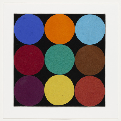 Ellsworth Kelly, 'Nine Colors', 1951. Ink on paper and gouache on paper, 19 x 20.3 cm
