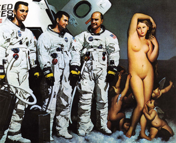 Erro, 'On Venus', 1975, from the series Space (Homage to Robert McCall), oil on canvas, 90 x 100 cm