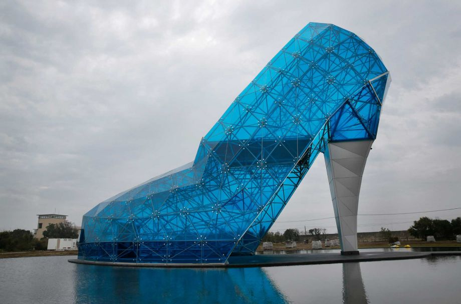 Giant glass slipper church, Taiwan, 2016