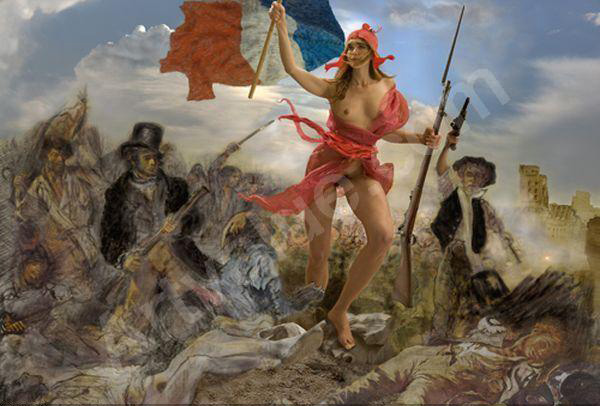 Guy Le Baube, 'La Liberté guidant le peuple', 2011, photograph, 144 x 206 cm