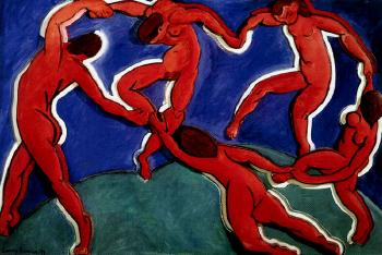 Larry Rivers (1925-2002), 'Charmed circle after Matisse la danse,' 1993, oil on sculpted foamcore, 116.84 x 175.26 cm