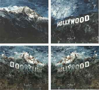 Li Qing , 'Mutual Undoing and Unity: Mountain & Hill', 2008, oil on canvas, diptych; and a set of two C-print, oil on canvas 200 x 220 cm, C-print: 59 x 65.5 cm
