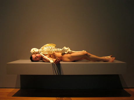 Marina Abramovic, 'Nude with skeleton', 2002-2005, re-performance at MoMA, New York