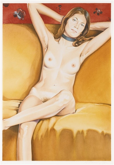 Mel Ramos (1935), 'Marquet's Mannequin', 1979, watercolour and pencil on paper, 58,6 x 40,4 cm