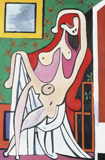 Mike Bidlo (1953), 'Not Picasso (Large Nude in a Red Armchair 1929),' 1987, oil on canvas, 184.5 x 128.9 cm