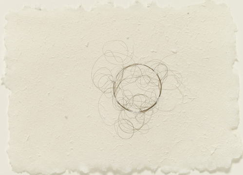 Mona Hatoum, 'Hair Drawing', 2003, human hair on handmade paper, 15.2 x 21.6 cm