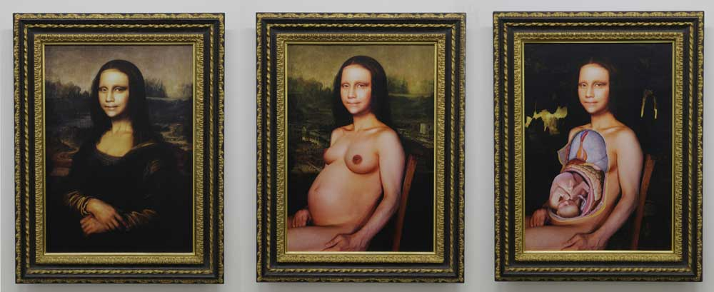 Morimura Yasumasa, 'Monna Lisa in Pregnancy', 1998, type C print mounted on canvas with frame, 98.5 x 76cm each (set of 3)