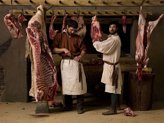 Philip Haas, 'The butcher's shop (after Carracci)', 2008, film installation