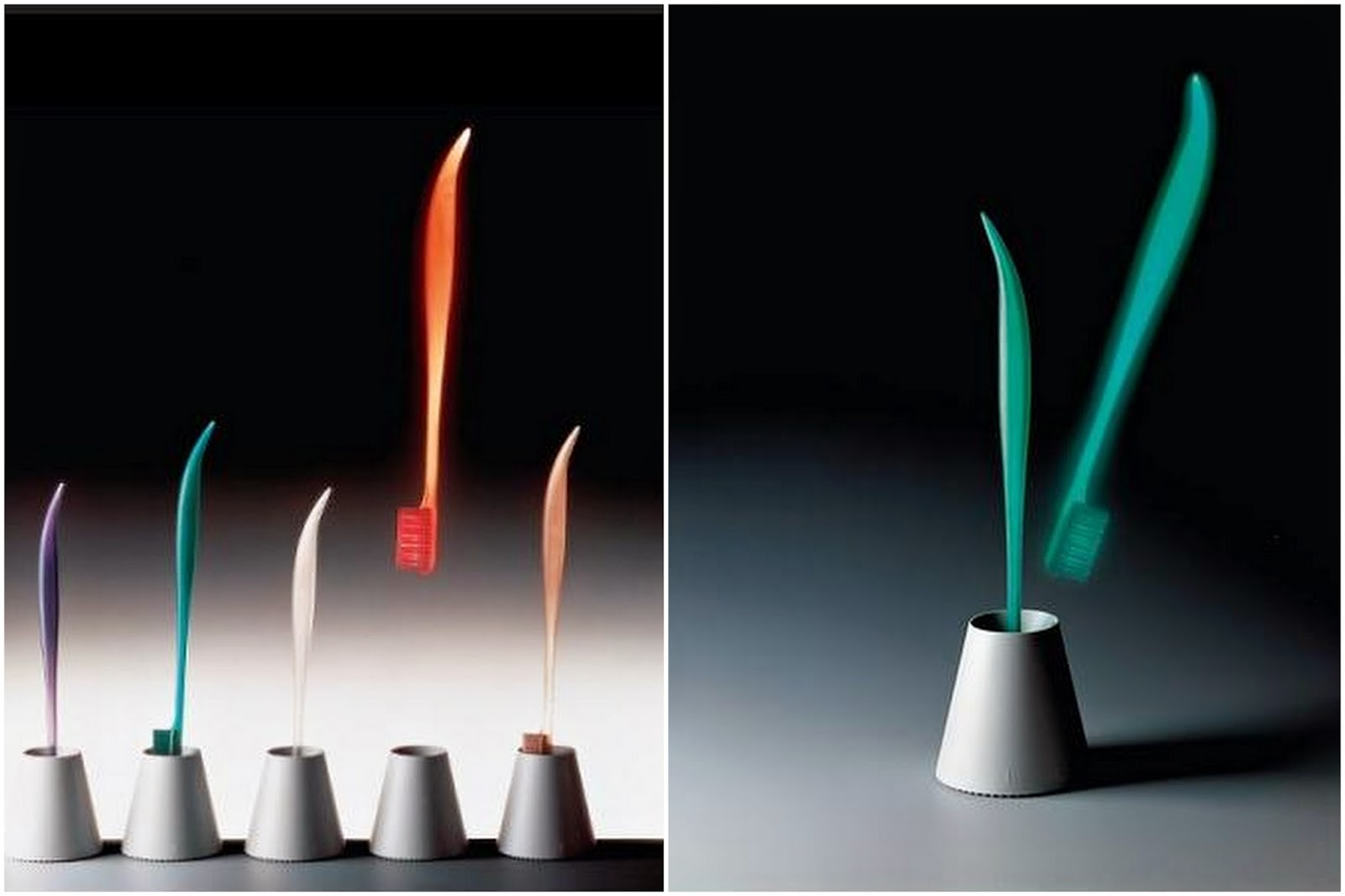 Philippe Starck, toothbrush for Fluocaril, 1989