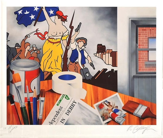 Robert Ballagh (1943), 'My studio', 1969 , color print, 109 x 132 cm