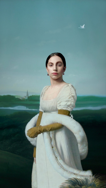 Robert Wilson (1941), 'Gaga Portraits - Mademoiselle Caroline Rivière (1793-1807) de Jean Dominique Ingres (1780-1867)', 2013, video projection, silent, loop.