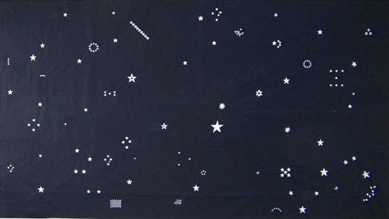 Sümer Sayın, 'The Stars', 2013, machine embroired fabric, 170 x 300 cm