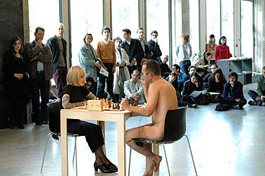 Sanja Ivekovic, Eve's Game, 2009, performance October 10th, 16h @ Bétonsalon, Paris