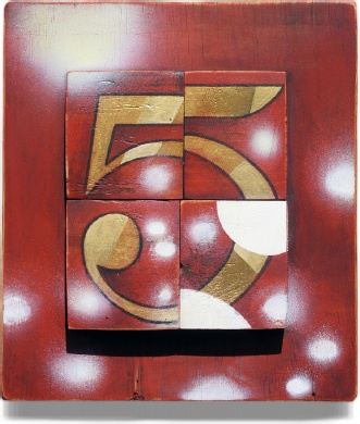 Sean Payne, 'The Figure 5 In Gold (After Charles Demuth)', 2002-2005, 30 x 26.5 x 3 cm