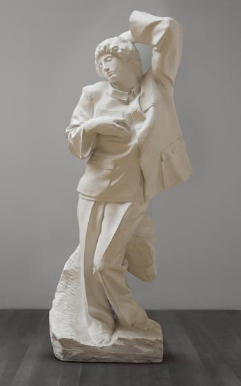Sui Jianguo (1956), 'Dying Slave,' 1998, painted bronze, 240 x 95 x 78,7 cm