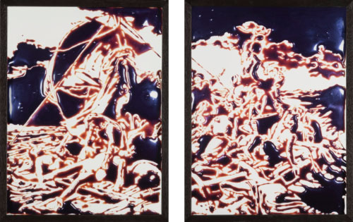 Vik Muniz, 'Raft Of The Medusa (After Géricault, From Pictures Of Chocolate),' diptych of Cibachrome prints, each flush-mounted to aluminum, 101.9 x 75.6 cm