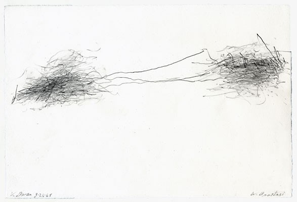William Anastasi, Subway Drawing (V. Dwan), 1968, pencil on paper, 19 x 28,5 cm