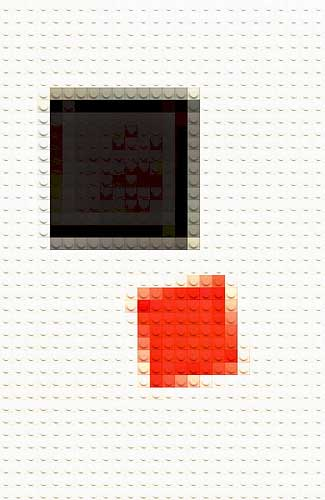 William Keckler, 'After Malevich 'Red Square and Black Square'(1915)', 2003