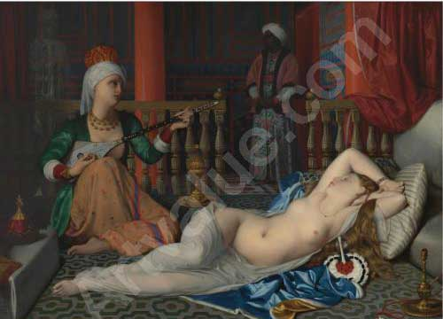 William McGregor Paxton, 'Odalisque With The Slave (Copy After Ingres),' 1932, oil on panel, 74,1 x 101,6 cm